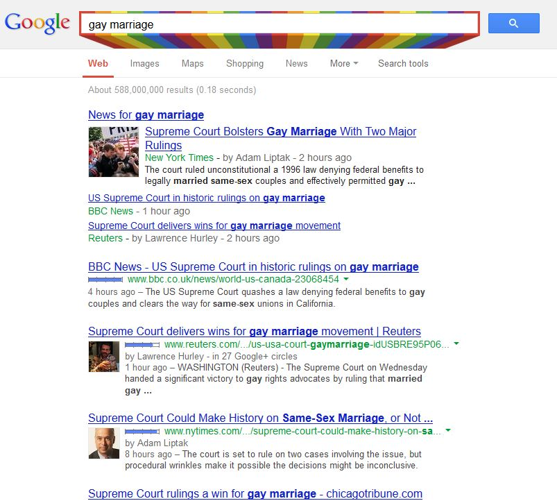 Gay Marriage GOogle